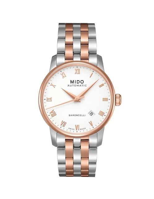 4bdf53131b2f Mido Baroncelli M86009N61 Reloj para Caballero Color Acero Dorado
