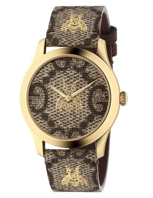 d6bcc2ac18b Vista Rápida. Reloj para dama Gucci G-Timeless YA1264068 café