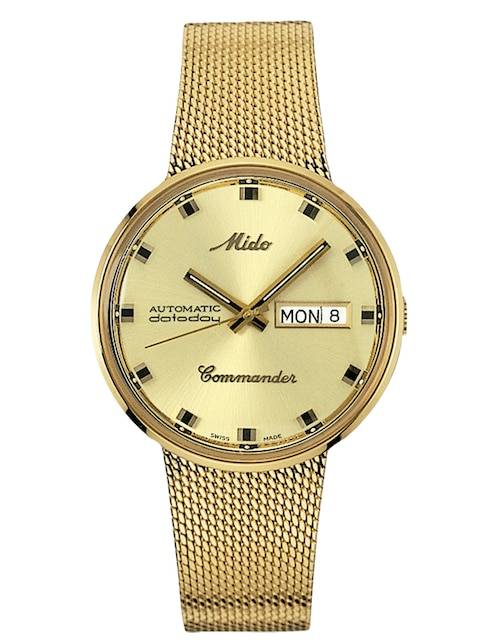 b582d806bd3c Mido Commander M842932213 Reloj para Caballero Color Dorado