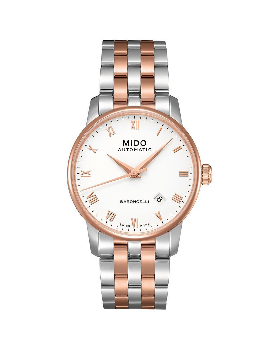 0fccf0284e99 Mido Baroncelli M86009N61 Reloj para Caballero Color Acero Dorado