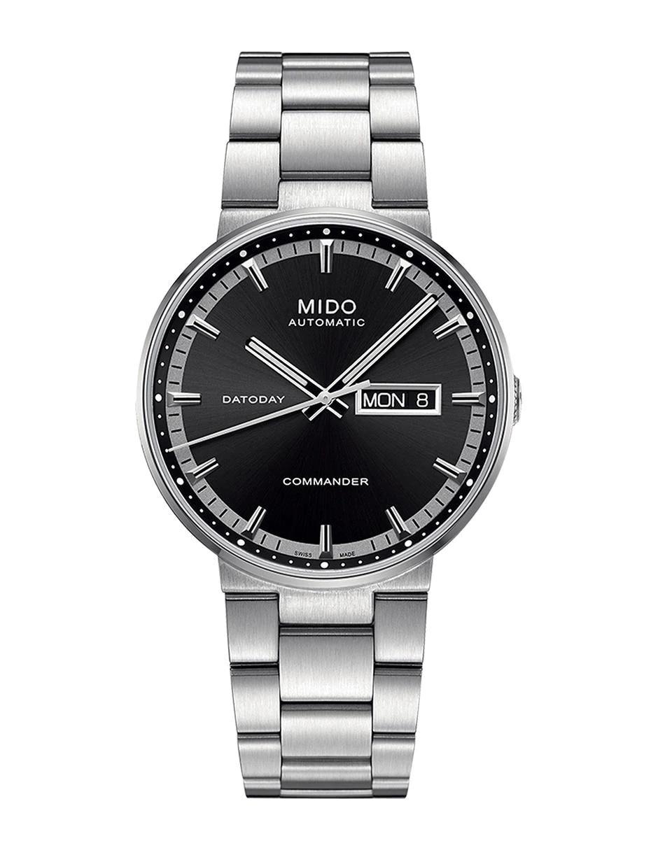 0dbf1e83cafd Mido Commander II M0144301105180 Reloj para Caballero Color Acero ...