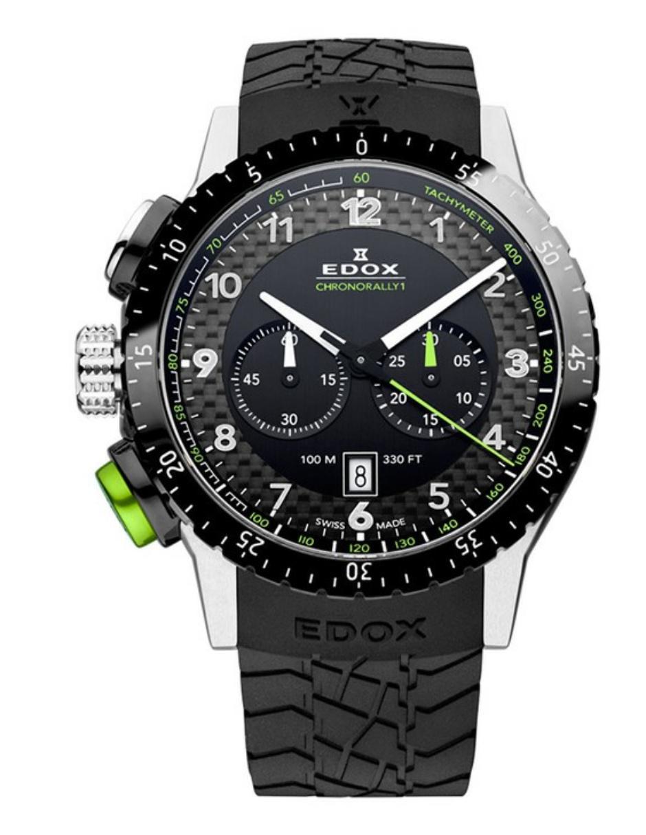 21254d76ad6b Reloj para caballero Edox Chronorally 10305 3NV NV negro