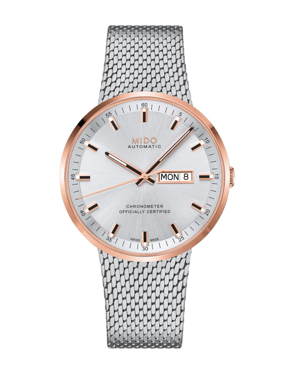 f3511649af8f Reloj para caballero Mido Commander II M0316312103100