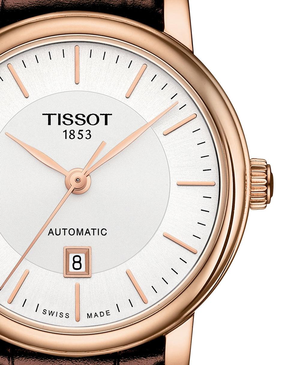 Reloj para dama Tissot Carson Automatic T1222073603100 café